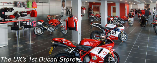 first ducati store in the UK